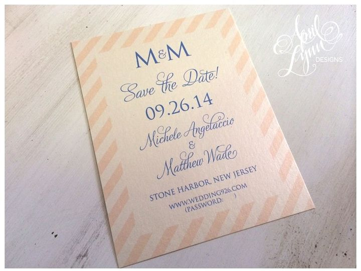 Tmx 1401053368318 Michele  Matt Save The Dat Langhorne, Pennsylvania wedding invitation