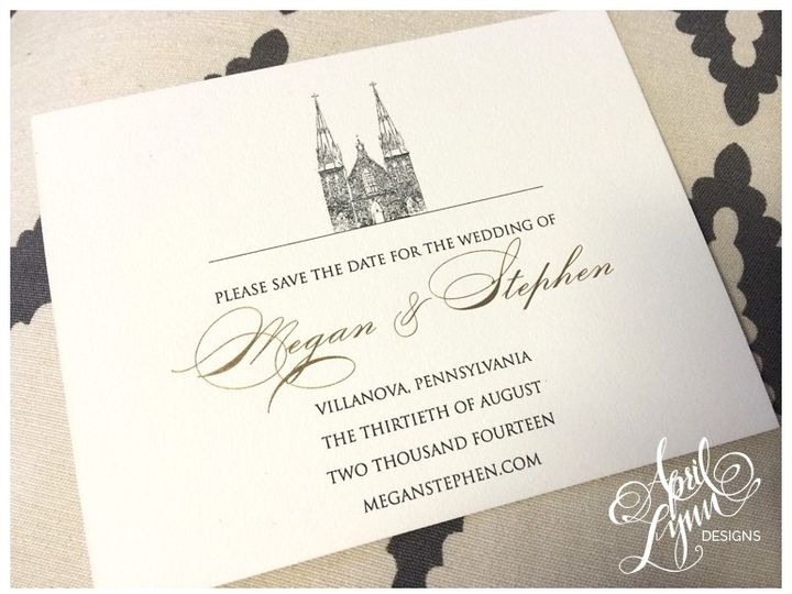 Tmx 1401053498470 Meganstephenvillanovasavethedat Langhorne, Pennsylvania wedding invitation
