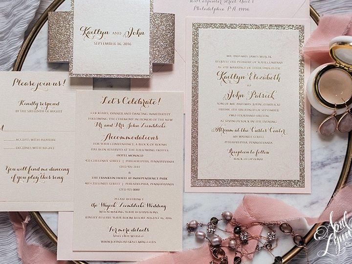 Tmx 1505329641538 Aprillynndesignskaitlynjohncescapheatriumatcurtisc Langhorne, Pennsylvania wedding invitation