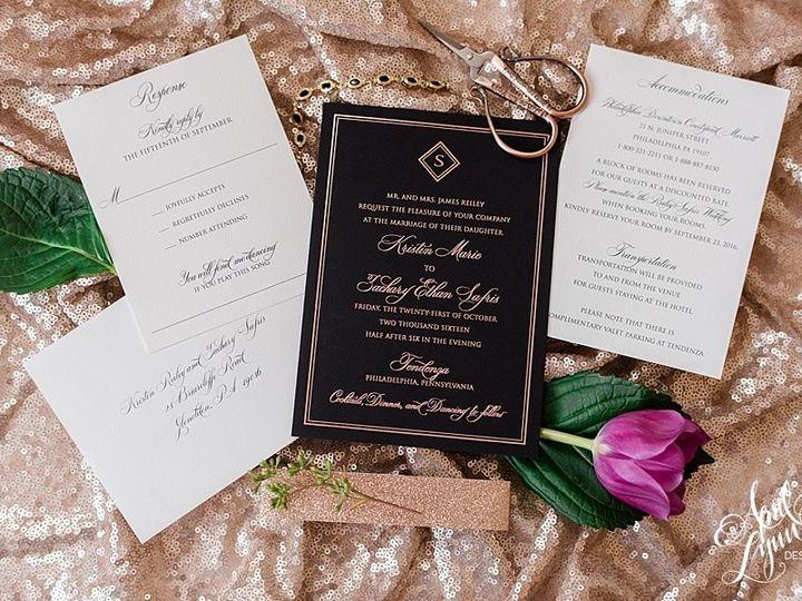 Tmx 1505329668176 Aprillynndesignskristinzachcescaphetendenzaphilade Langhorne, Pennsylvania wedding invitation