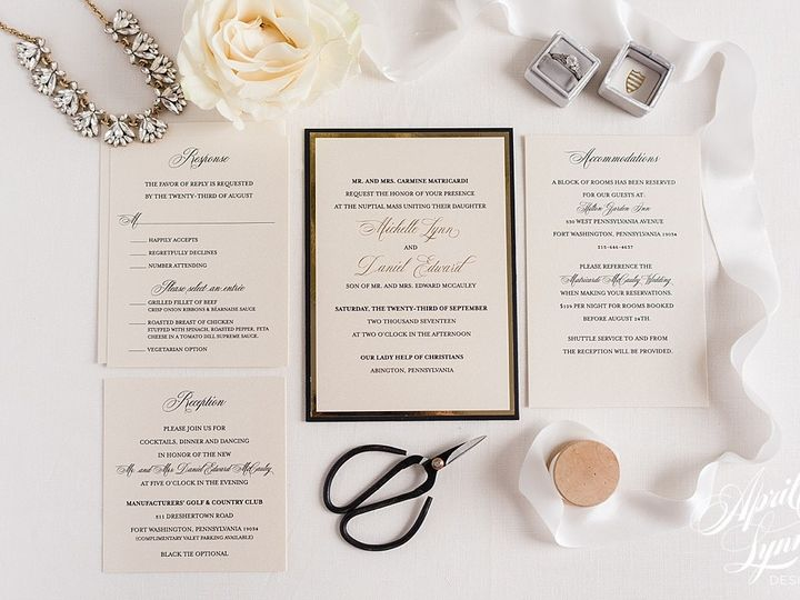 Tmx 1510940215362 Carlyfullerphotography 8064 Langhorne, Pennsylvania wedding invitation