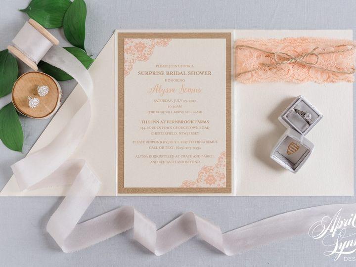 Tmx 1511187848736 Aprillynndesignssurprisebridalshowertrifoldinvitat Langhorne, Pennsylvania wedding invitation