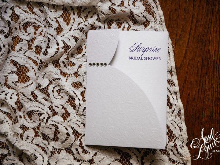 Tmx 1511189281275 Aprillynndesignsericasurprisebridalshowerinvitatio Langhorne, Pennsylvania wedding invitation