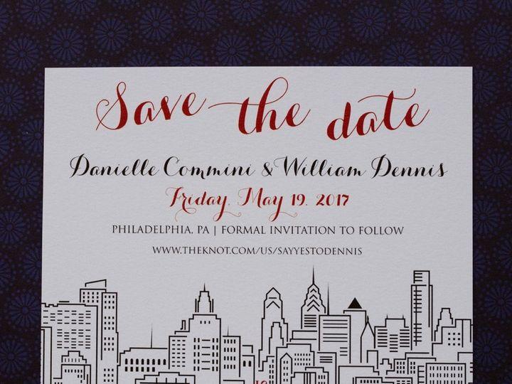 Tmx 1511191099932 Aprillynndesignsdaniellewilliamphiladelphiaskyline Langhorne, Pennsylvania wedding invitation