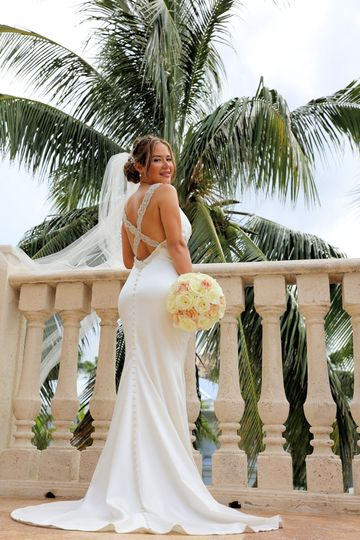 The bride at the balcony