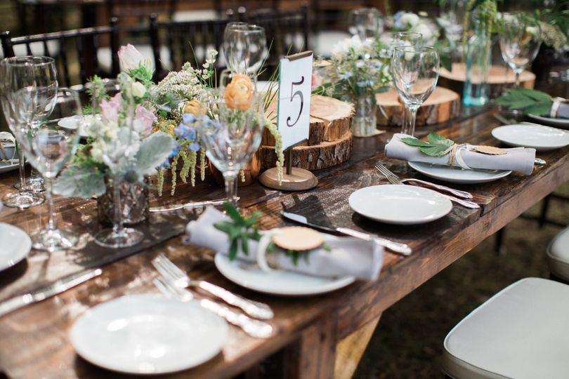 Rustic table setup