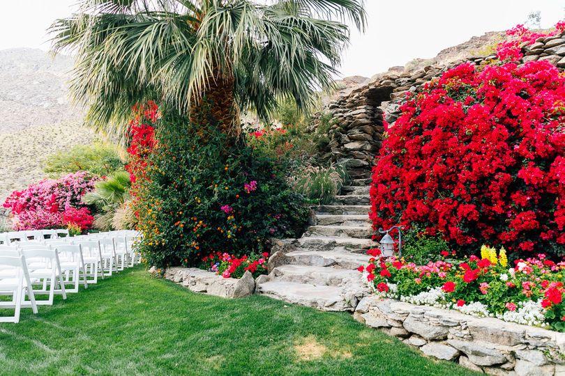 Staircase to private garden