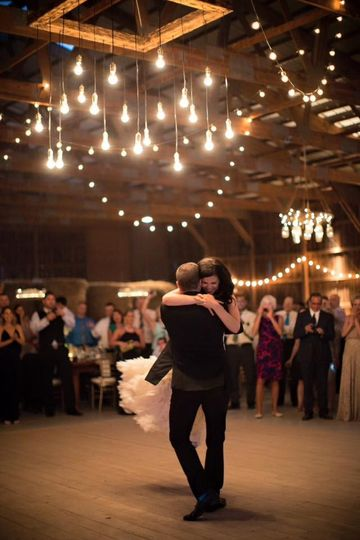 Couple on the dance floor