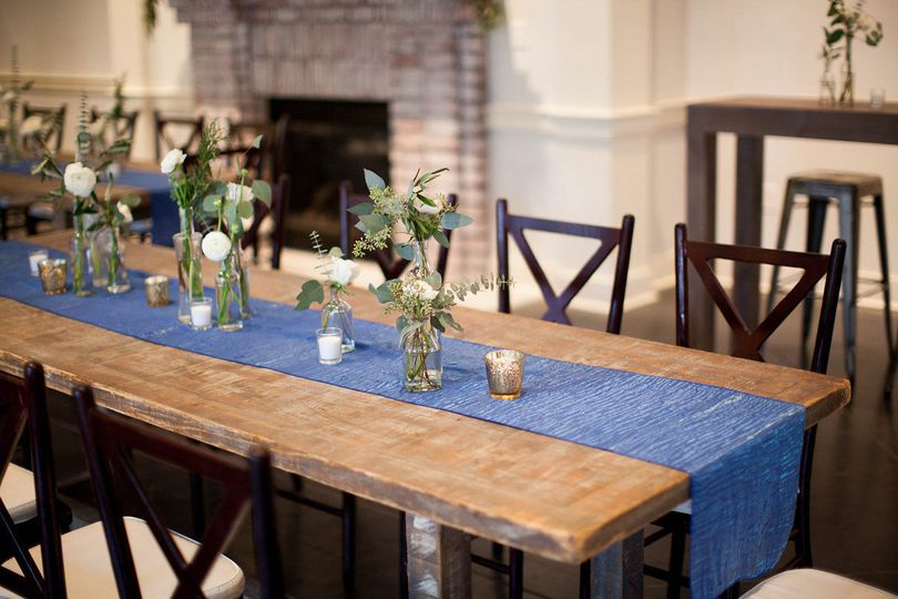 Simple Southern touches to Coleman Hall Wedding