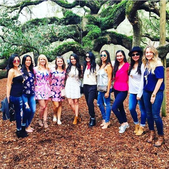 Bachelorette photo-op at Angel Oak on our Brut Package Tour