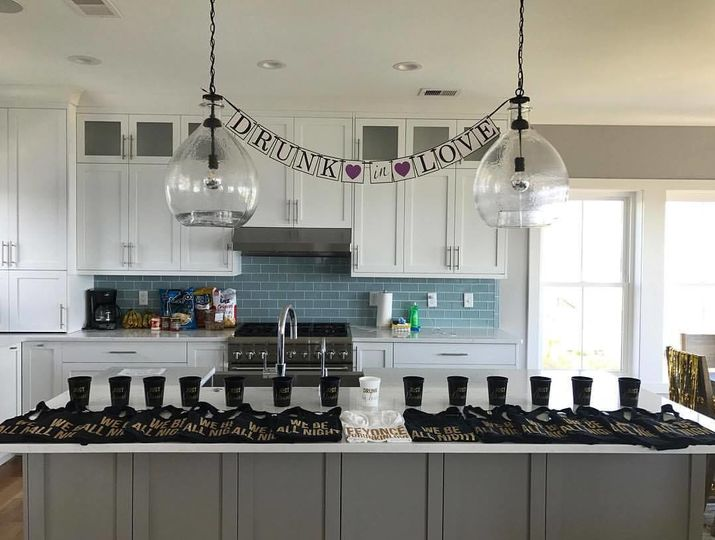 Beyonce-themed Bachelorette setup with our Champagne Package