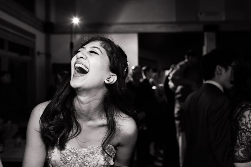 Laughter at a wedding in Seatt