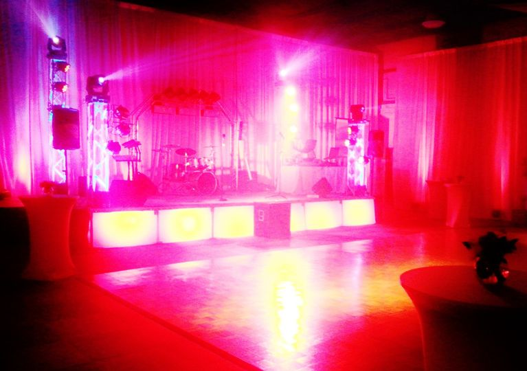 Band stage and stage lighting