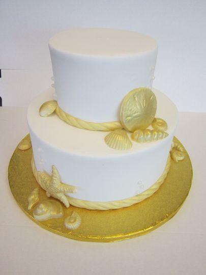 Wedding cake iced in buttercream