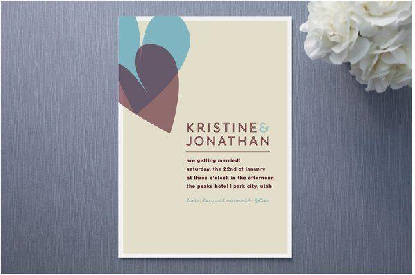 Two Of Hearts Wedding Invitation