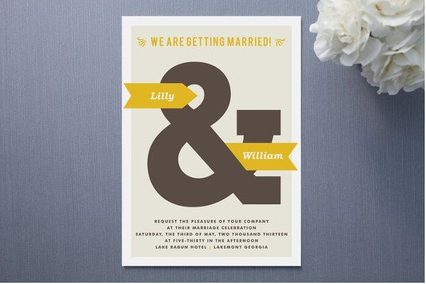 And Now Wedding Invitation