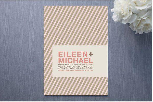 Modern Stripes Wedding Invitation