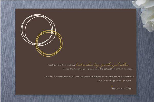 Circles of Love Wedding Invitation