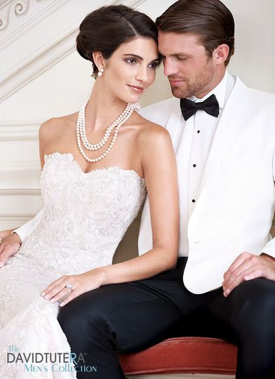 Traditional White dinner jacket, By David Tutera