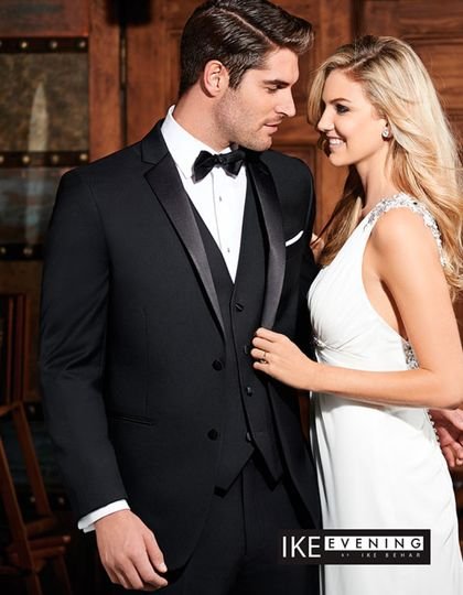 Two Button Notch Perfect Wddding Tuxedo by Ike Behar