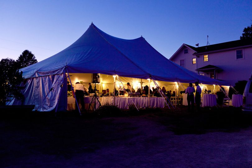 40ft x 60ft elite rope and pole wedding tent