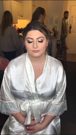 Soft bridal look