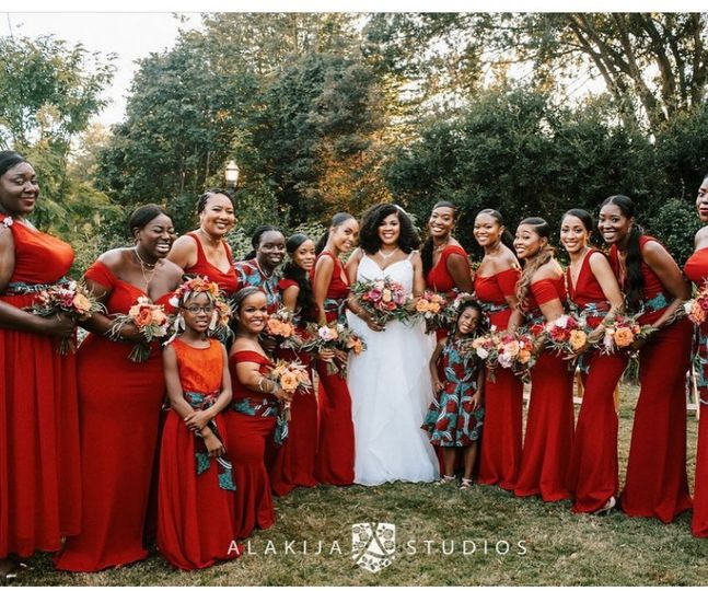 Colorful Bridal Party Flowers