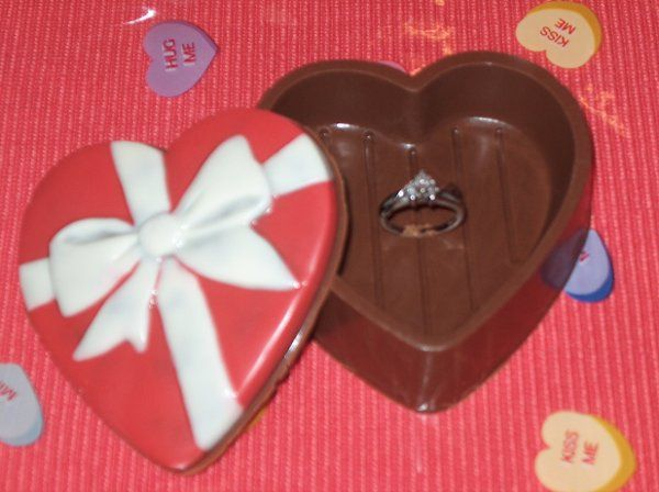 Daddy's Engagment chocolate heart box