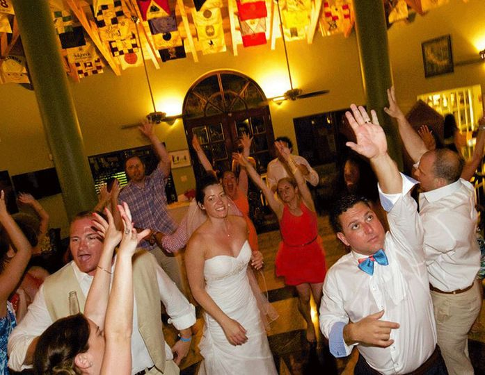 "The ""SeRich"" wedding party throwin' it down at Fairways Bar & Grill on Providenciales, Turks &..."