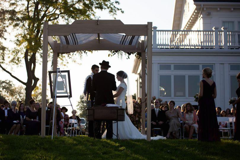 ... 800x800 1435777642203 ben and alissa s wedding ceremony 0269 ... & Under The Canopy Chuppah Rental - Event Rentals - Ann Arbor MI ...