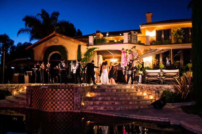 Wedding Reception Dancers @ Villa Sancti Di Bella Vista Malibu, CA. DJ/MC Eric Zimmermann Elegant...