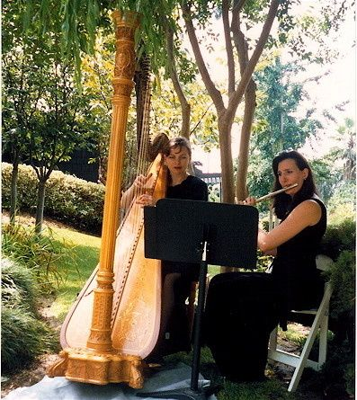 Harp and Flute Duo @ Langham Hotel Japanese Garden Elegant Music 626-797-1795