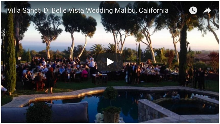 villa sancti di bella vista wedding malibu califor
