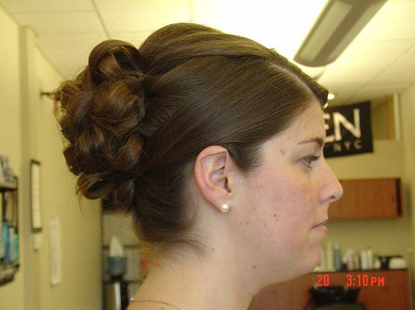 """This was the trial up-do """"beautiful"""""""