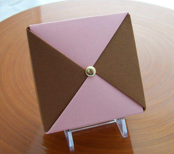 Pink and Chocolate wedding favor box.