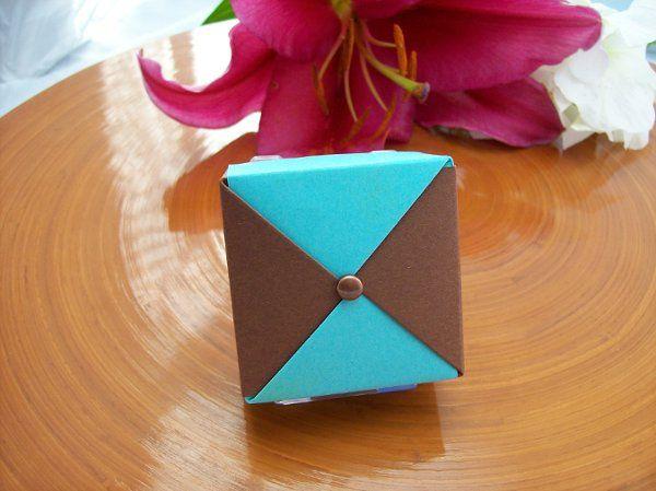 Chocolate and Blu Raspberry favor box