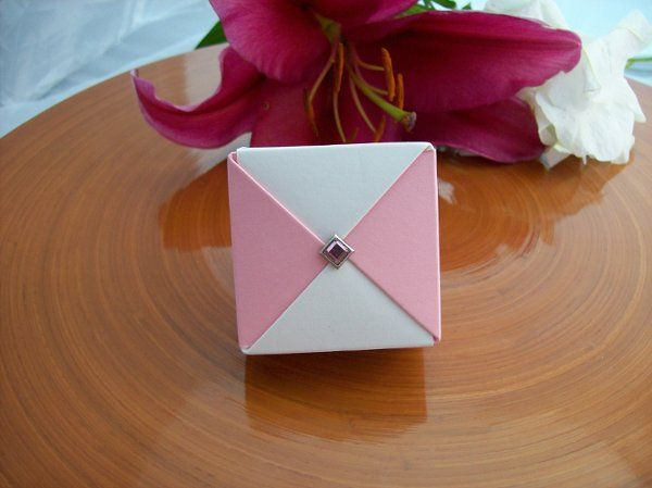 Pink and Cream favor box
