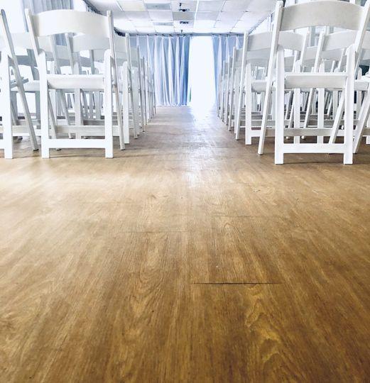Empty ceremony hall