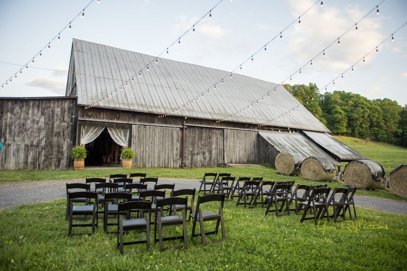 Ceremony before the barn