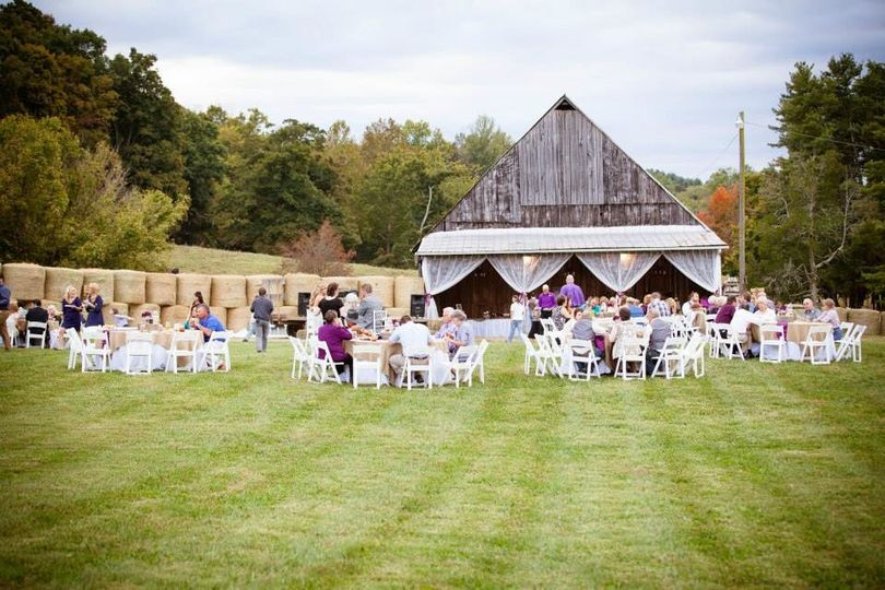 Reception on the grass