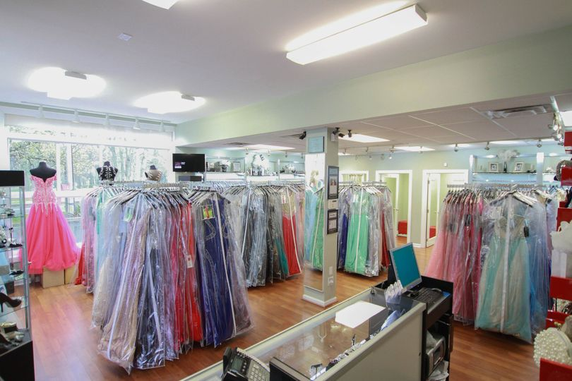 Colorful selection of dresses