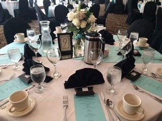 Full table Setting for buffet style off site wedding