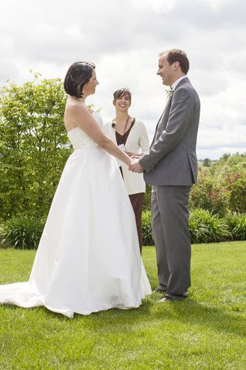 Outdoor Wedding Ceremony at Dell Lea in Chichester, NH.