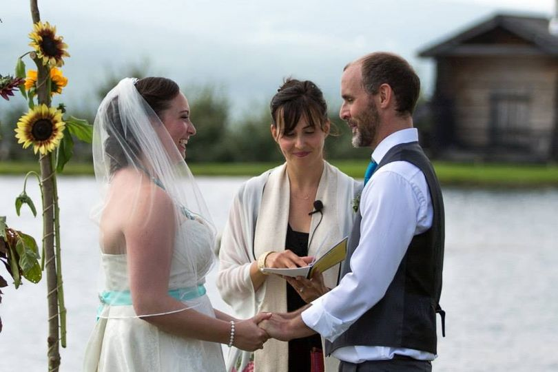 Lakeside Wedding Ceremony at Alyson's Orchard, Walpole, NH