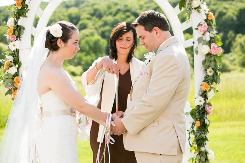 Outdoor Wedding Ceremony with Handfasting Ritual, Quonquont Farm, Whately, MA