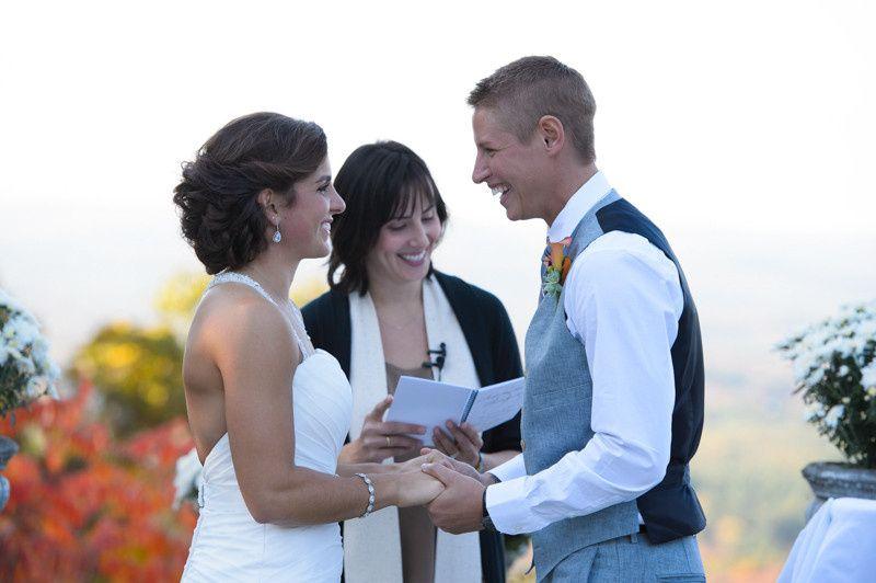 Same-Sex Wedding Ceremony at The Log Cabin, Holyoke, MA