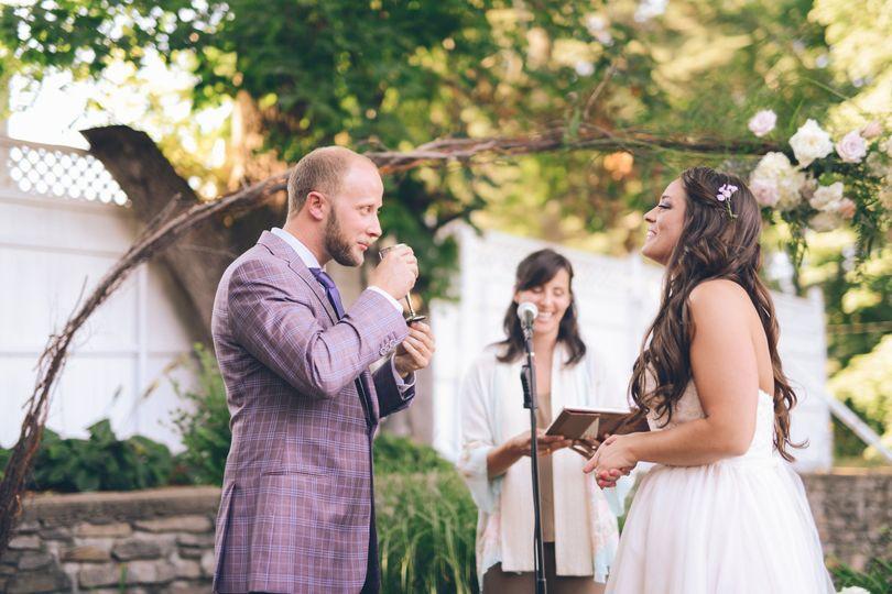 Backyard Interfaith Wedding Ceremony, Worcester, MA