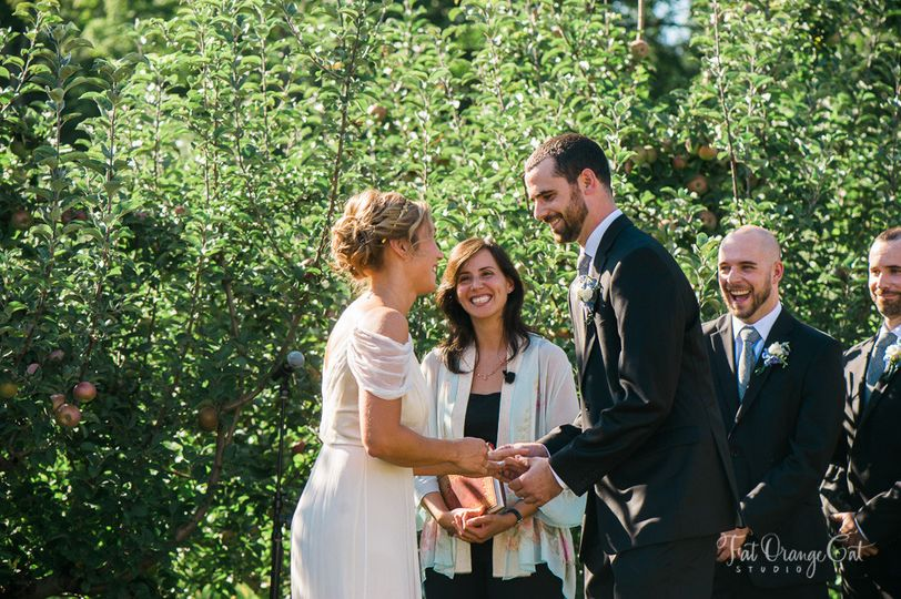 Orchard Wedding Ceremony at Quonquont Farm, Whately, MA