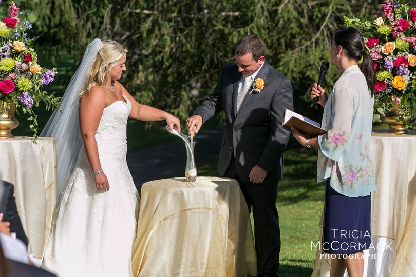 Wedding Ceremony with Sand Ceremony, Country Club of Pittsfield, Pittsfield, MA
