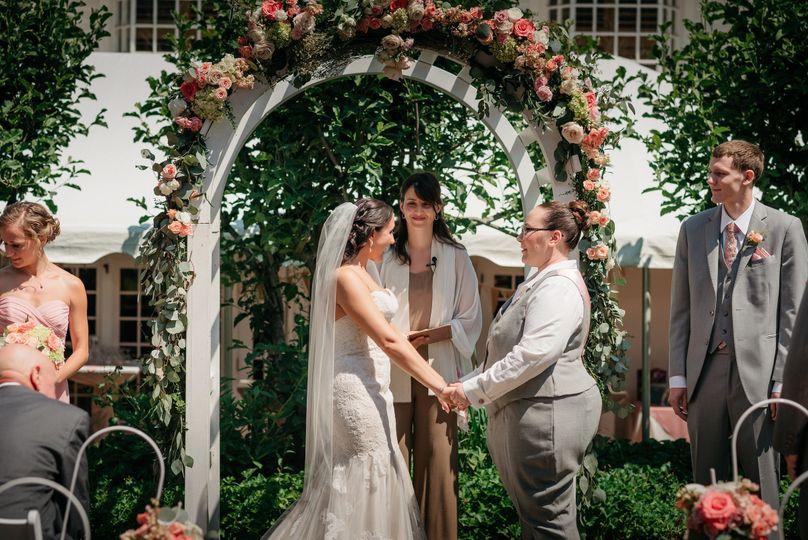Same-Sex Wedding Ceremony at The Deerfield Inn in Historic Deerfield, MA